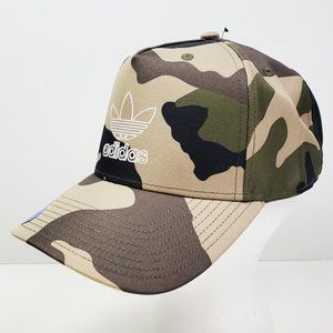 Adidas Trefoil Camo Snapback High Crown Hat NWT